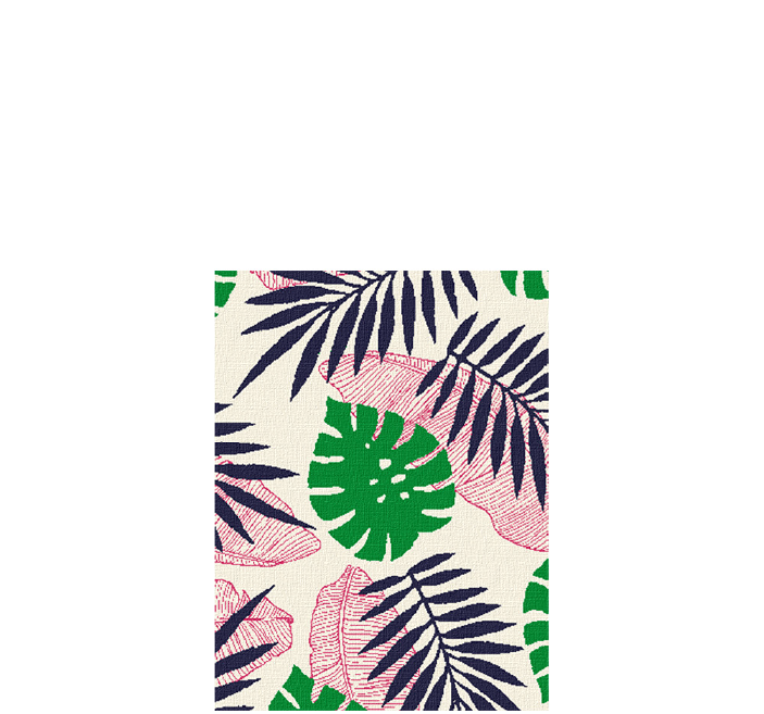 30x40 inch eco-cotton knit blanket with a palm leaf pattern in custom colors