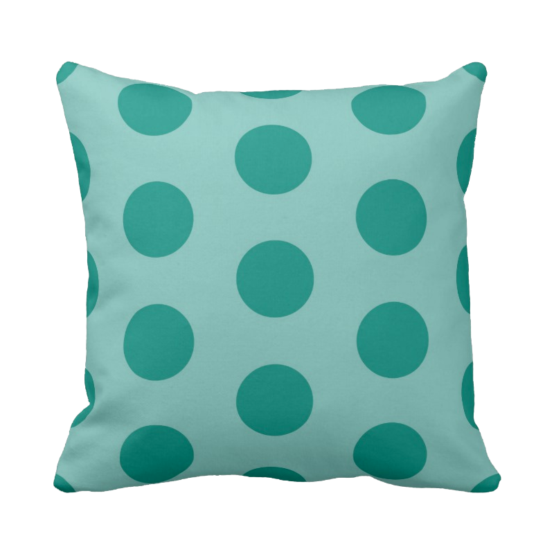 20 inch Polka Dot pillow in custom colors for indoor/outdoor use