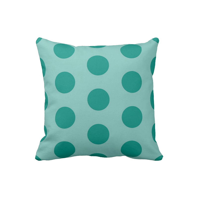 16 inch Polka Dot pillow in custom colors for indoor/outdoor use
