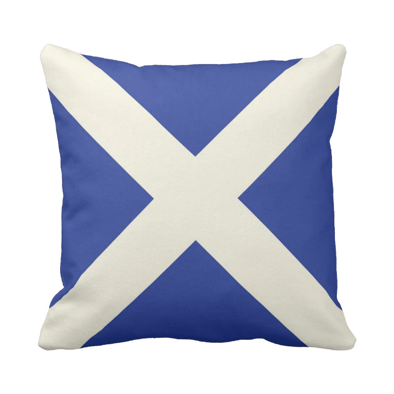 20 inch Scottish Flag pillow in custom colors for indoor/outdoor use