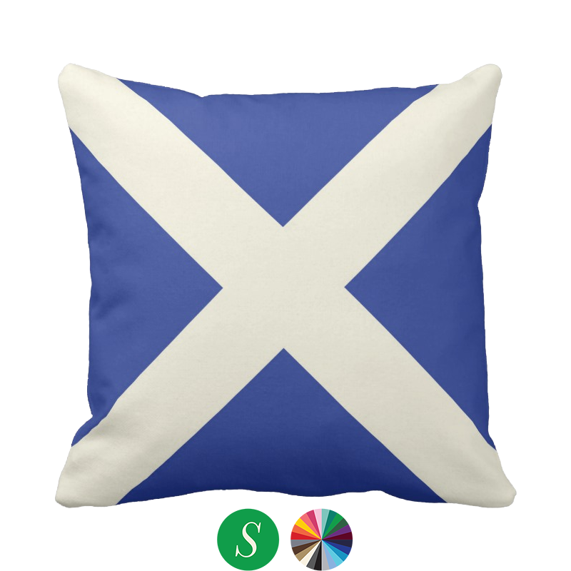 saltire pillow