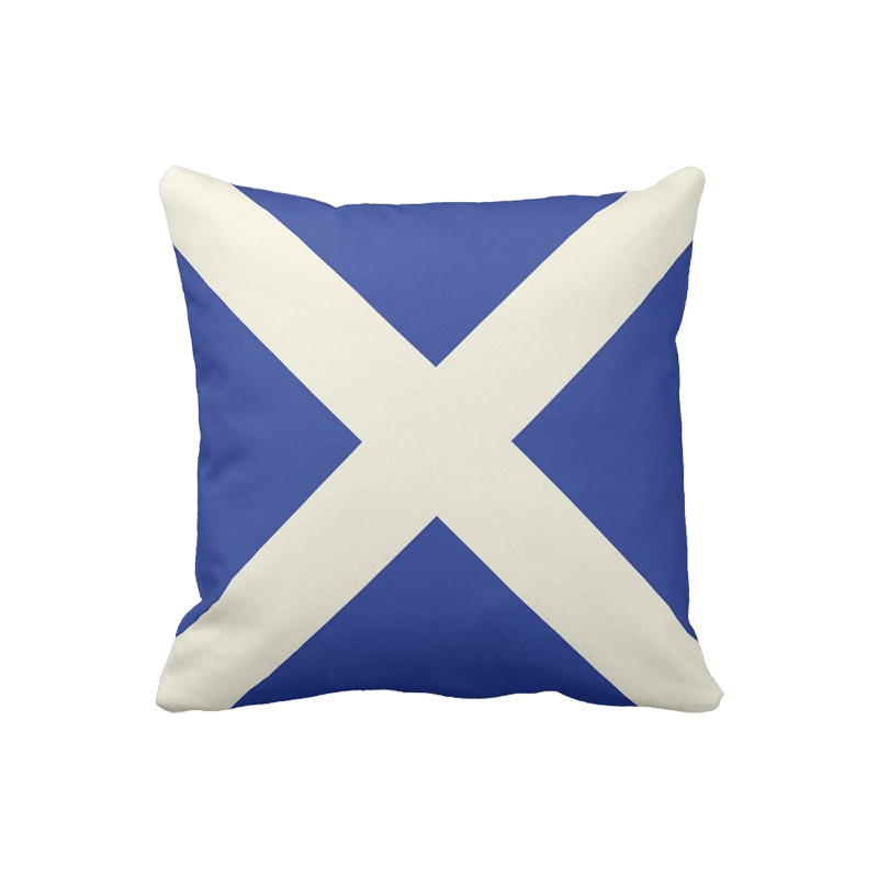 16 inch Scottish Flag pillow in custom colors for indoor/outdoor use