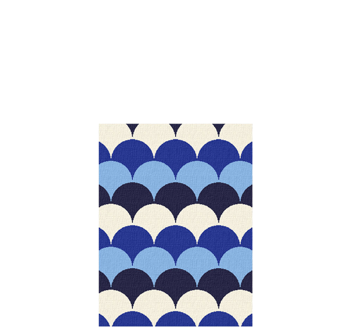 30x40 inch eco-cotton knit blanket with bold geometric pattern of scallops in custom colors