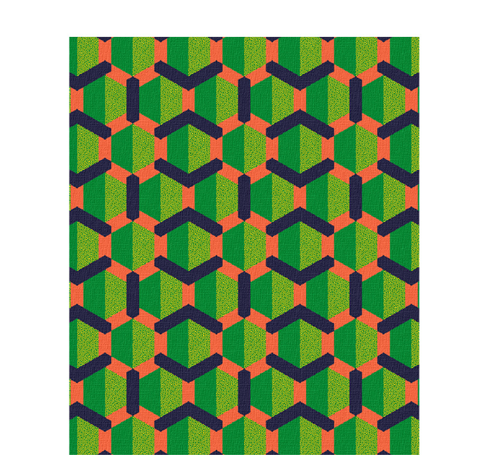 50x60 inch eco-cotton knit blanket with a bold geometric pattern and hexagons from three 15 studio in Homewood, AL in custom colors