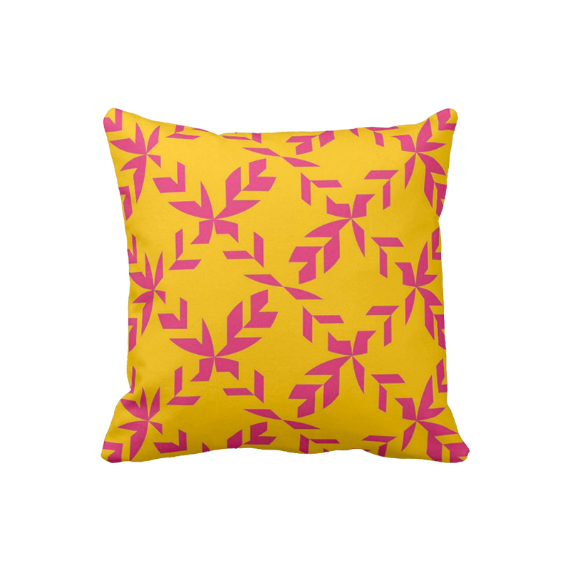 16 inch pattern pillow in custom colors for indoor/outdoor use