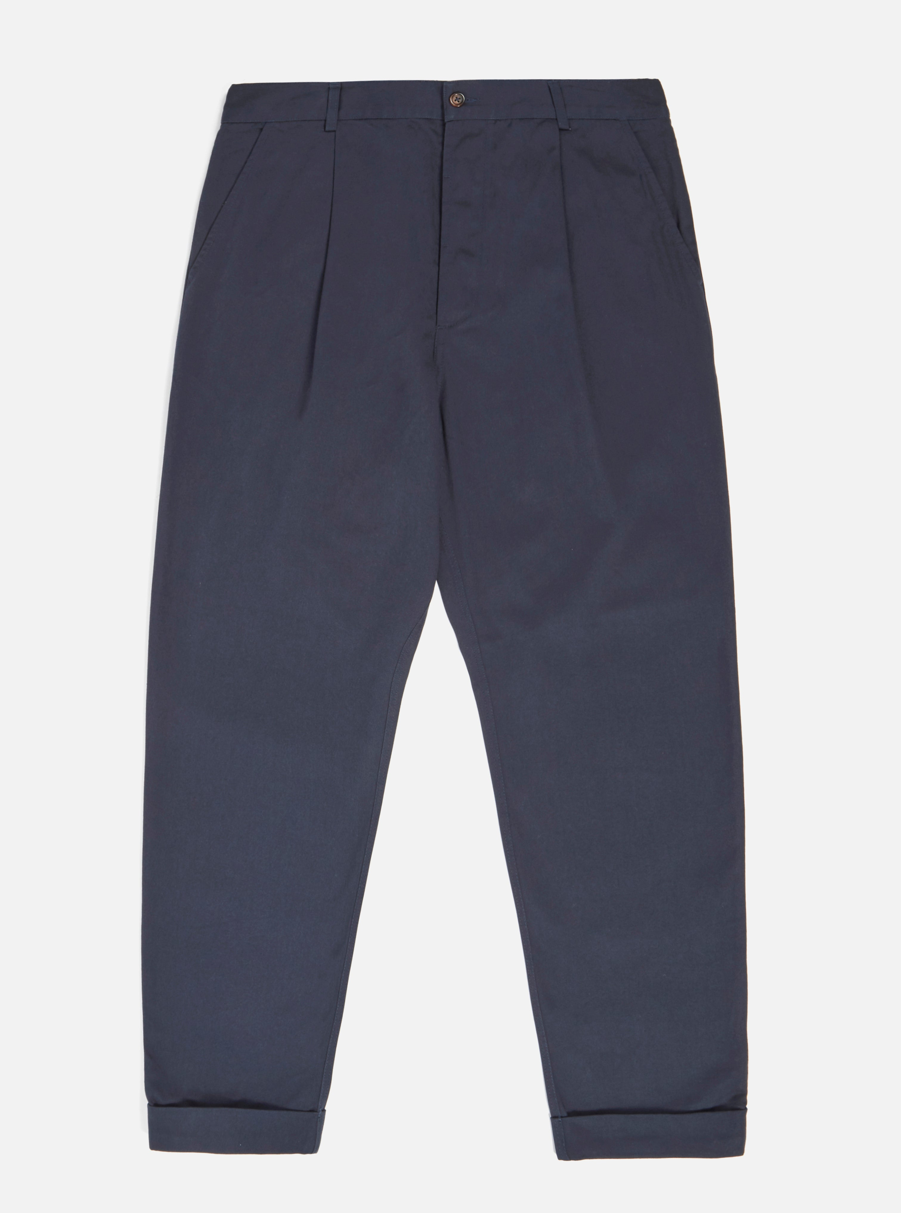 Universal Works Pleated Pant in Navy Twill