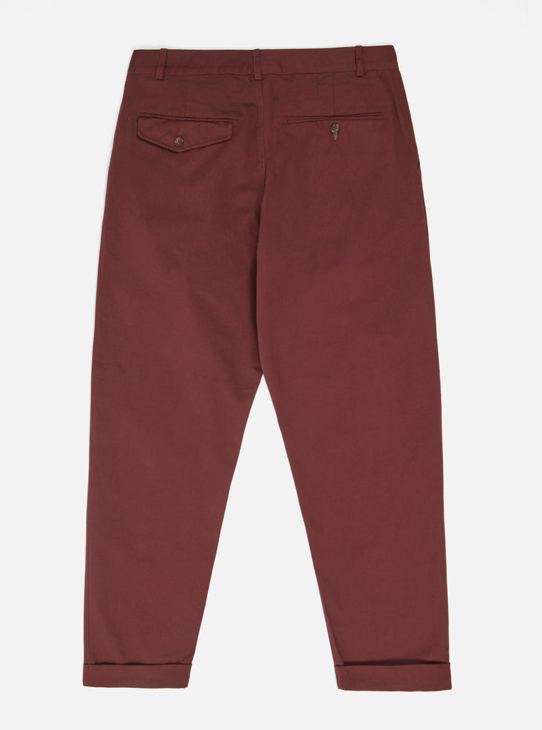 Universal Works Pleated Pant in Raisin Twill