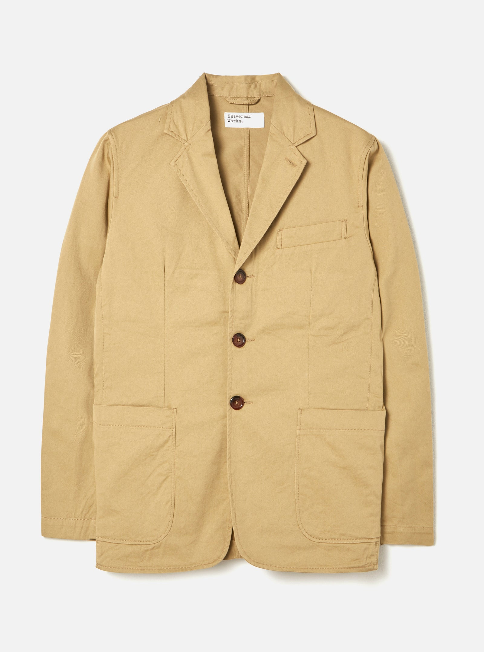 Universal Works London Jacket in Sand Twill