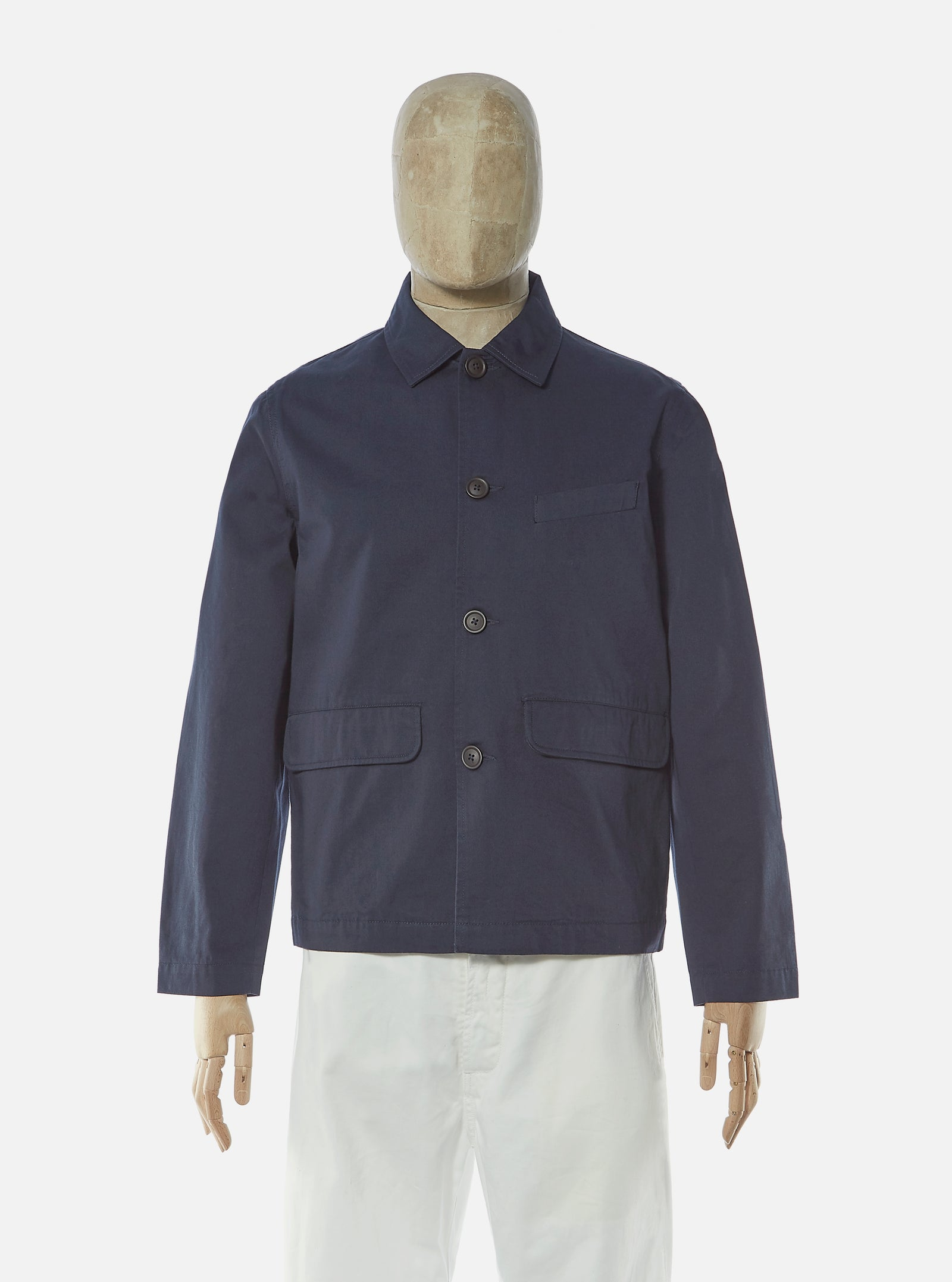 Universal Works Warmus Jacket in Navy Twill