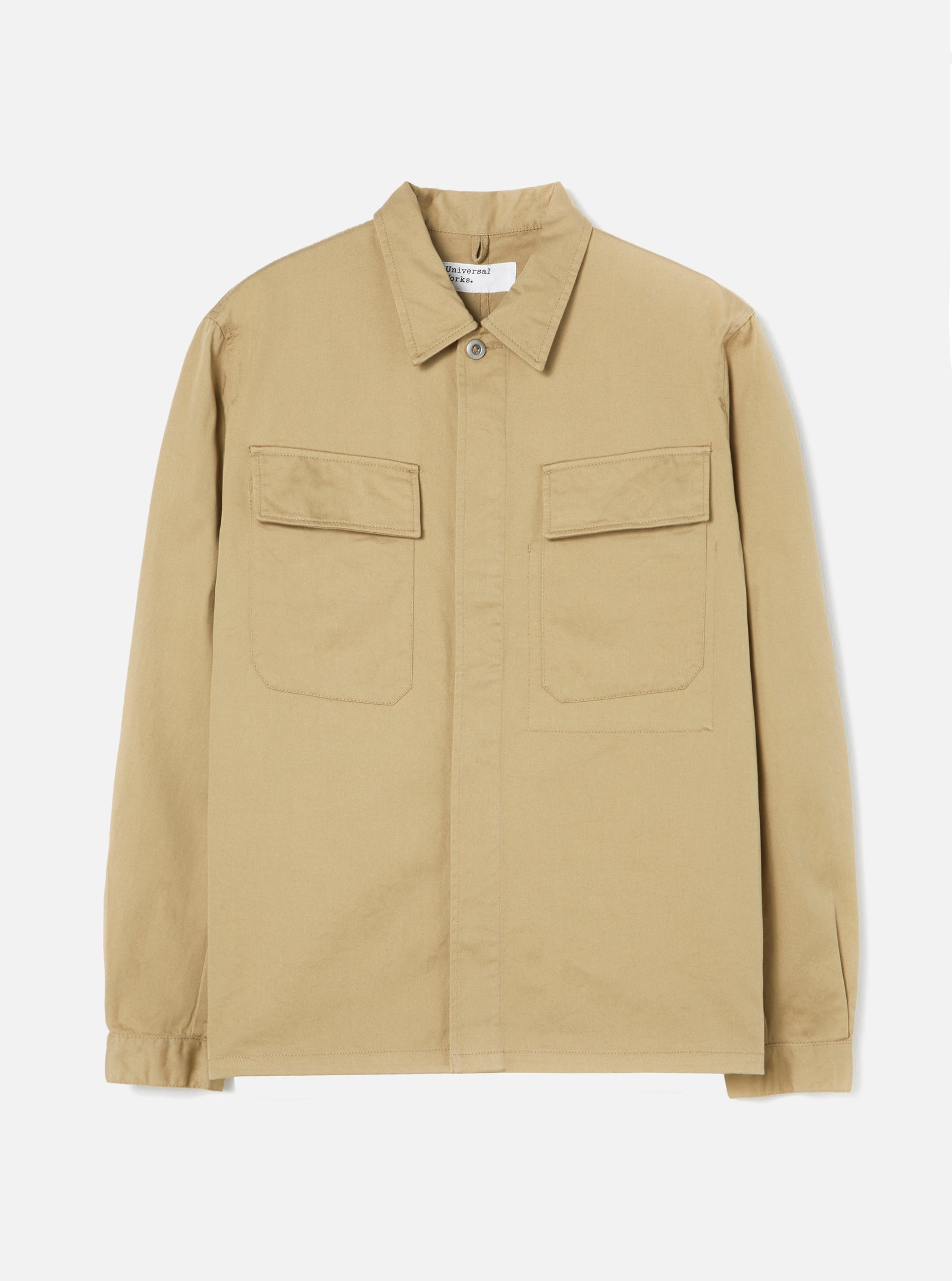 Universal Works MW Chore Overshirt in Sand Twill