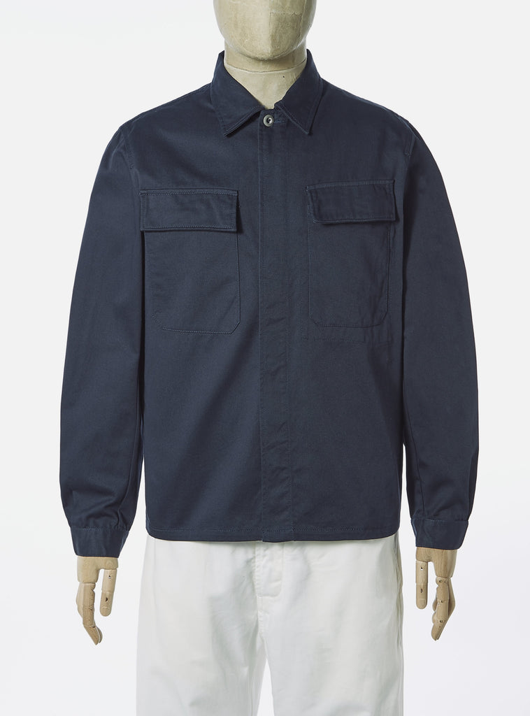 Universal Works MW Chore Overshirt in Navy Twill