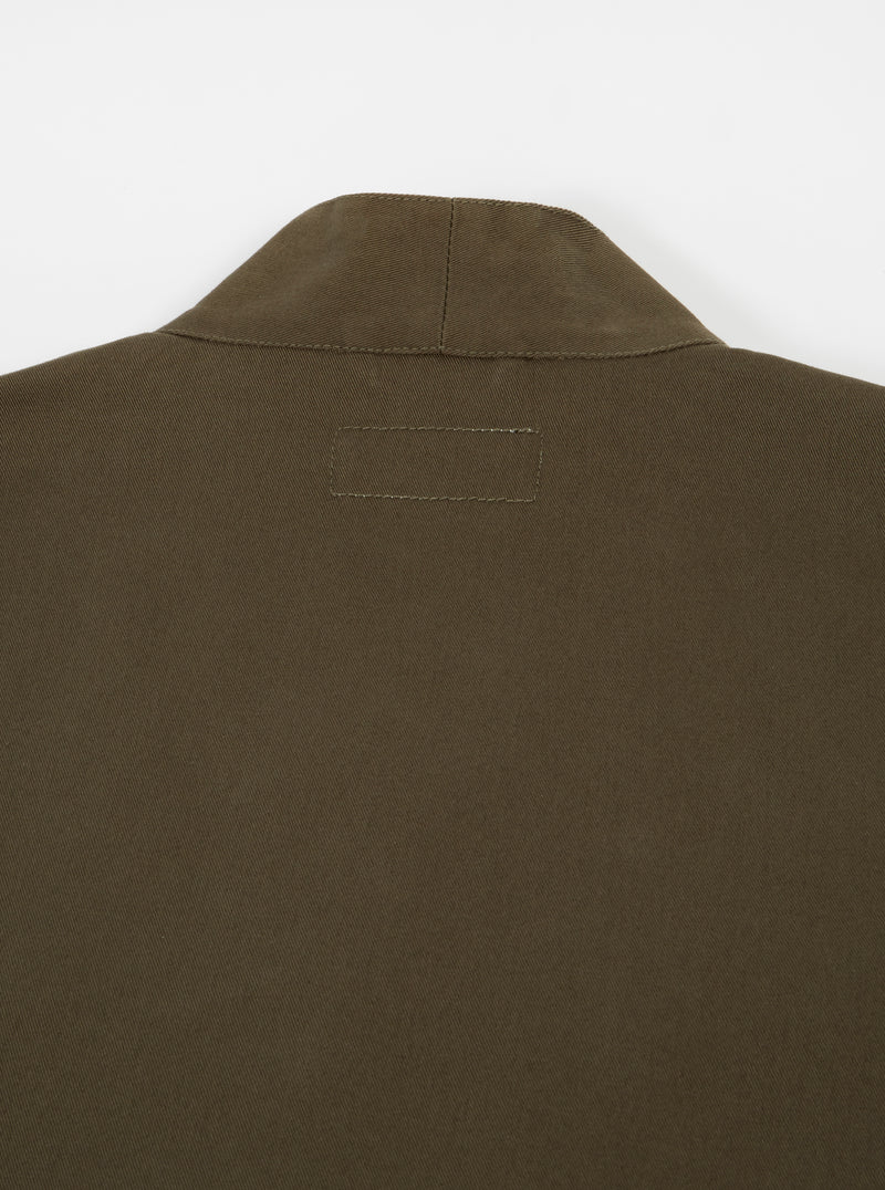 Universal Works Kyoto Work Jacket in Olive Twill