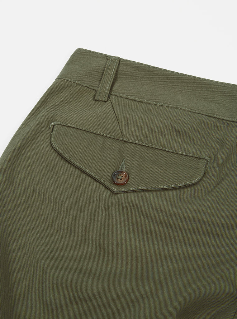 Universal Works Aston Pant in Olive Twill