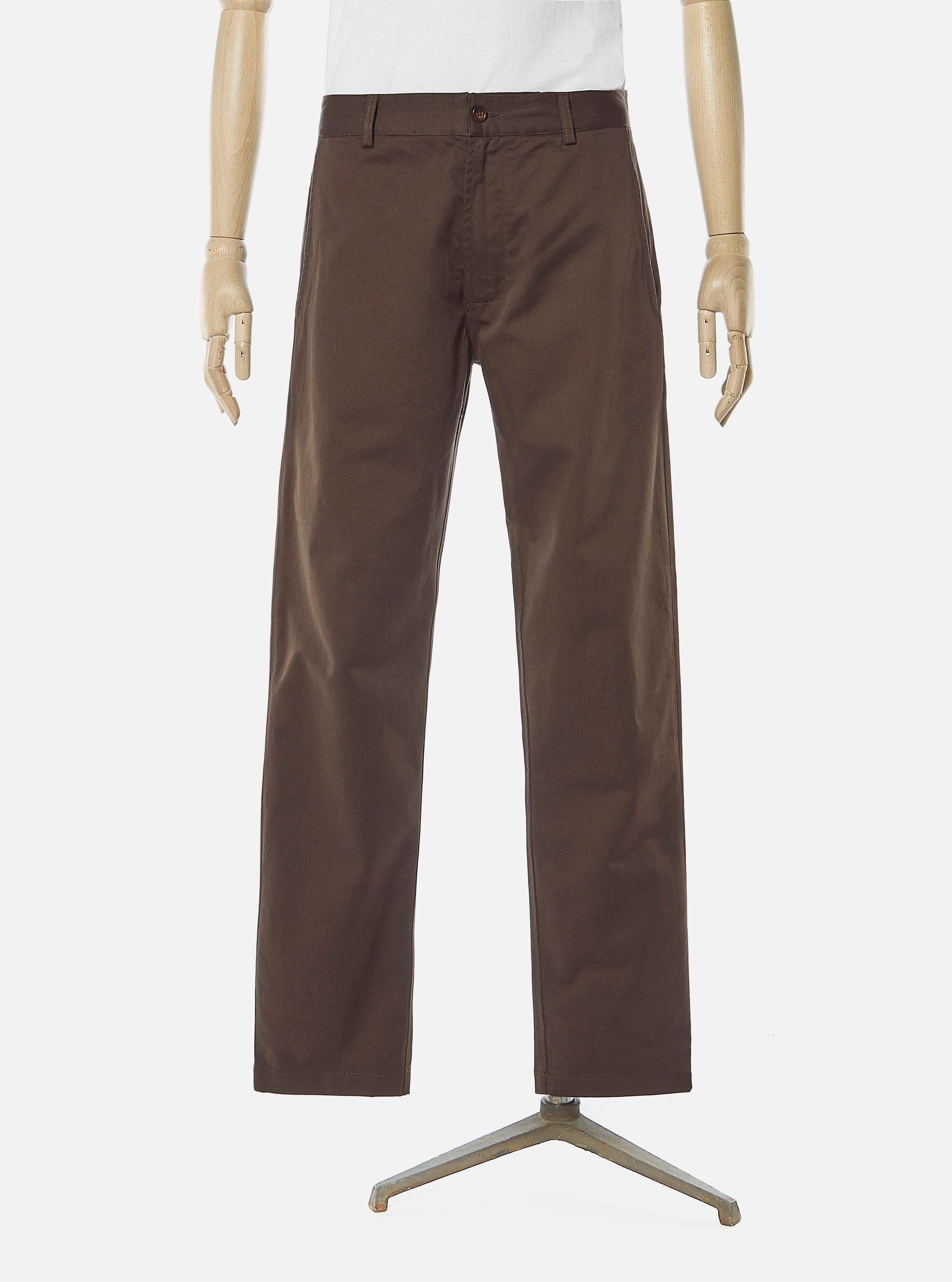 Universal Works Aston Pant in Chocolate Twill