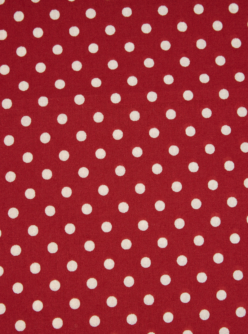 Universal Works Pocket Square in Red Classic Dot