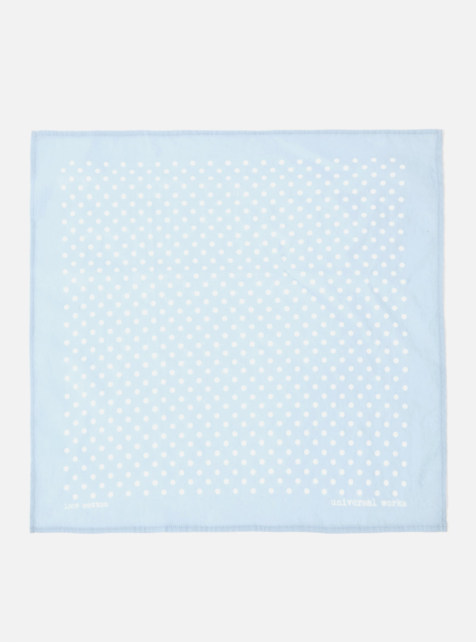 Universal Works Pocket Square in Blue Classic Dot