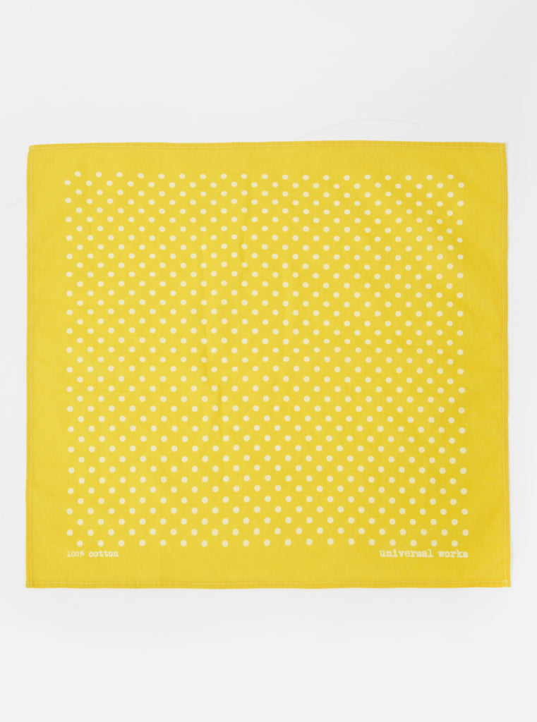 Universal Works Pocket Square in Yellow Classic Dot