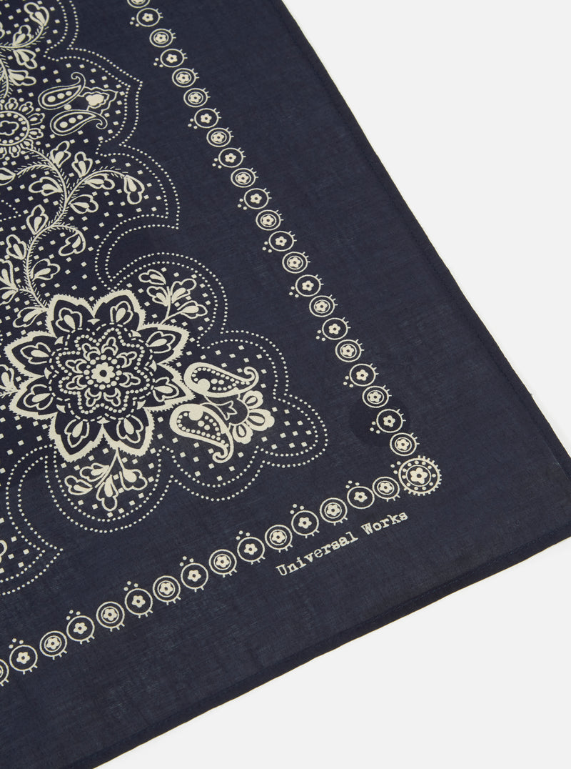 Universal Works Neckerchief in Navy Classic Bandana