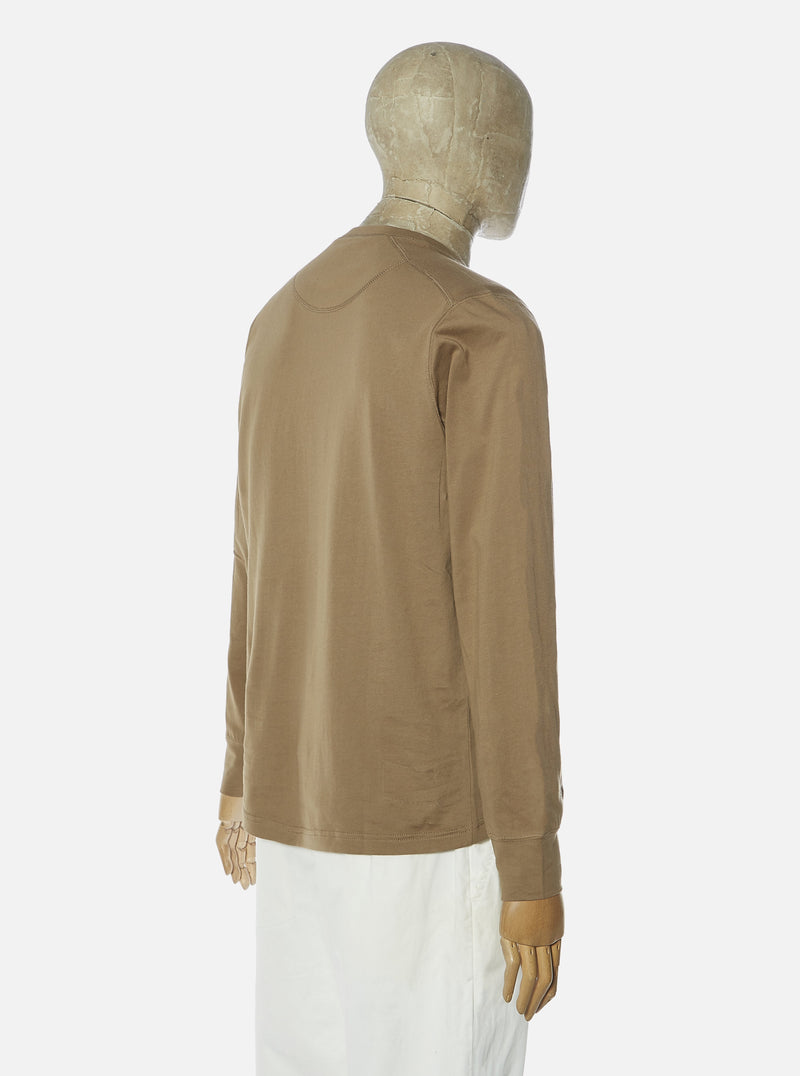 Universal Works L/S Eaton Shirt in Dark Sand Jersey