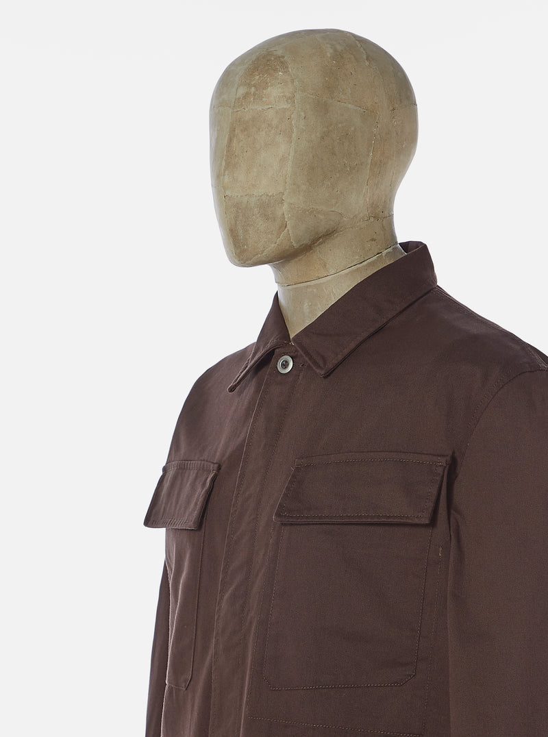 Universal Works MW Fatigue Jacket in Chocolate Twill