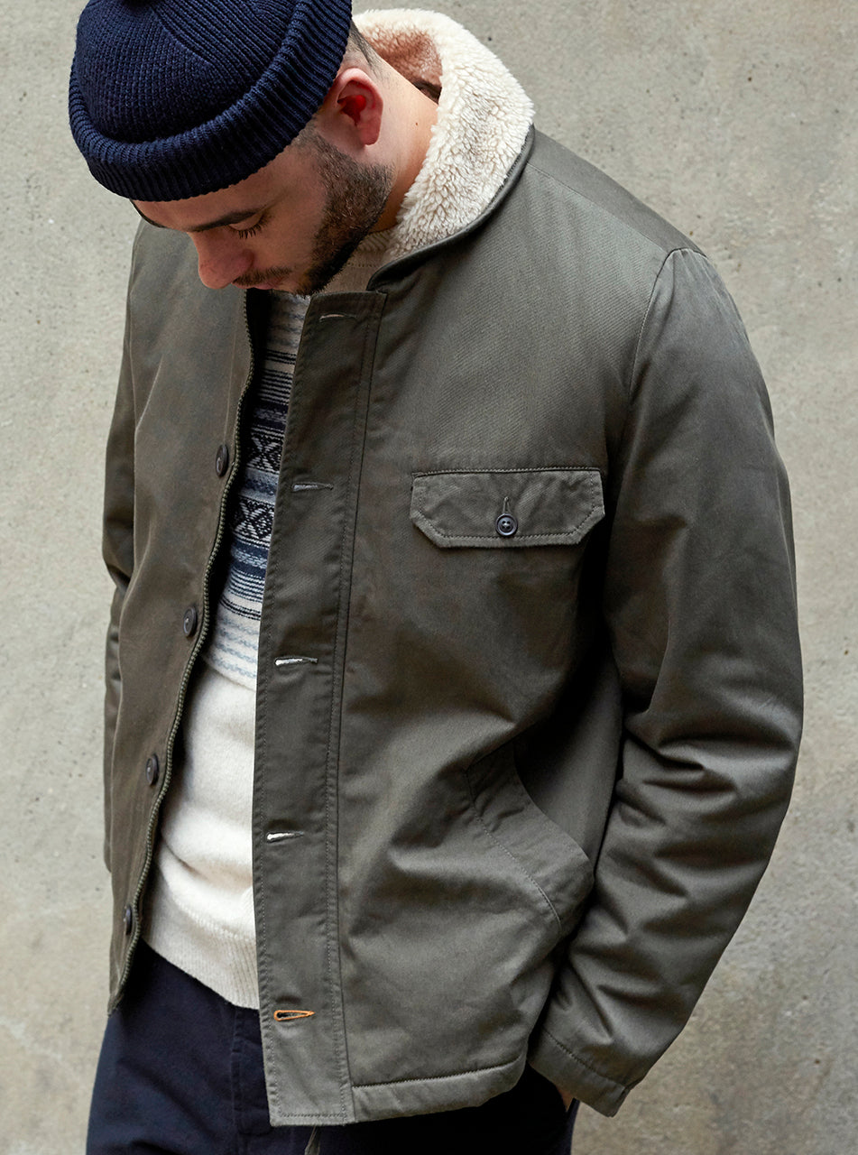 Universal Works N1 Jacket in Olive Twill