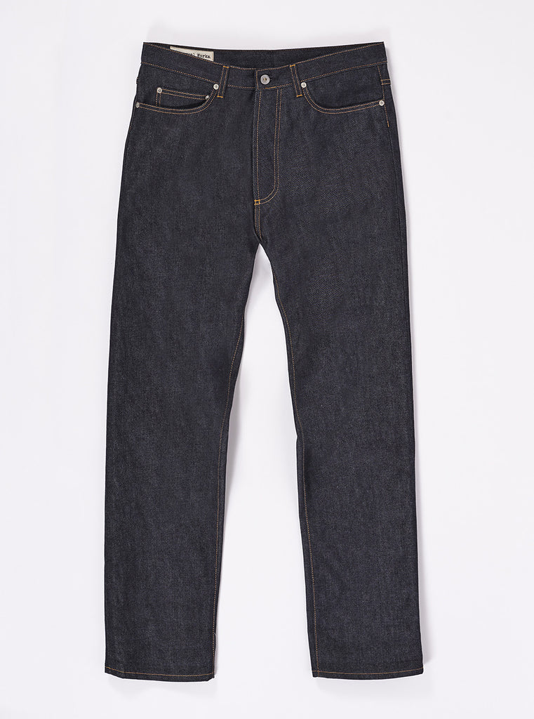 Workshop Denim Indigo Slim Fit Jeans In Selvedge Denim