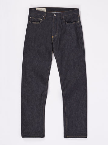 Workshop Denim Indigo Regular Fit Jeans In Selvedge Denim