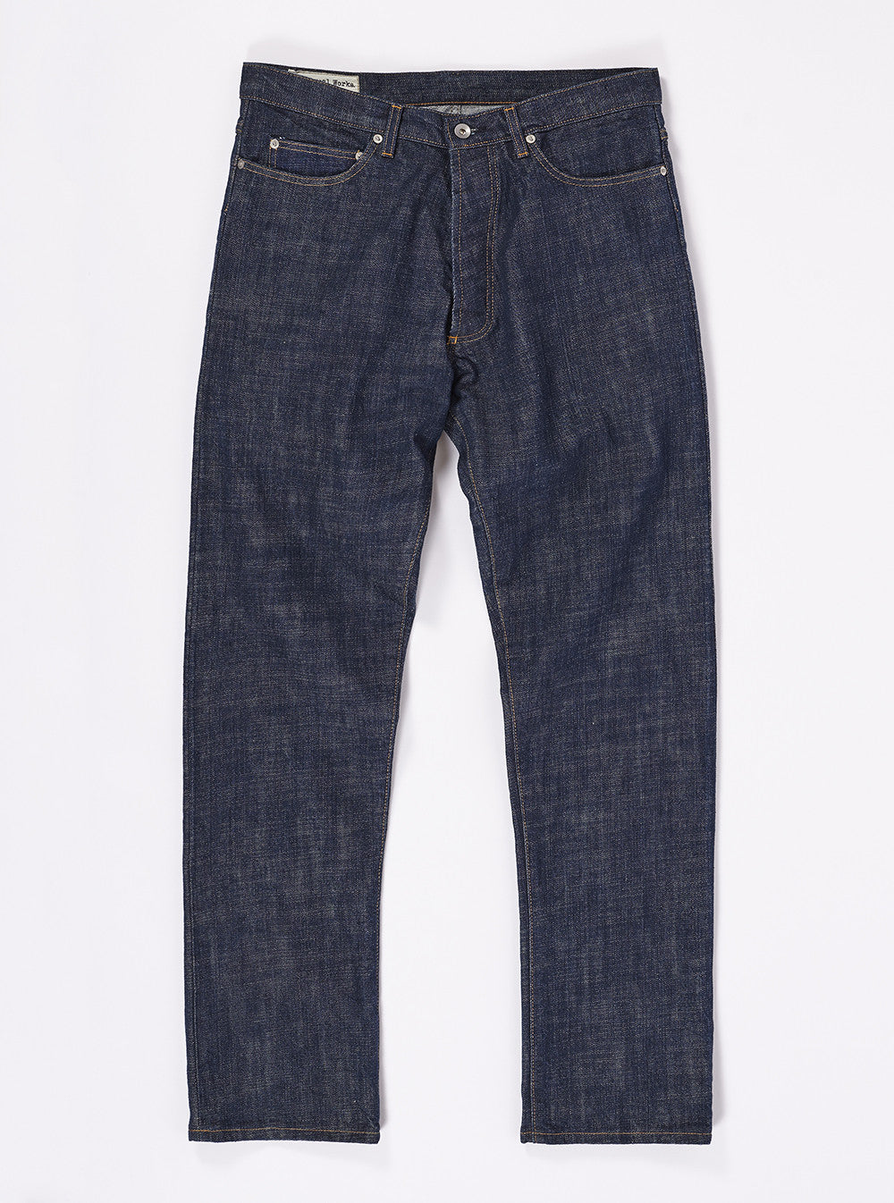 Workshop Denim Regular Fit Jeans In Indigo Slub Selvedge Denim