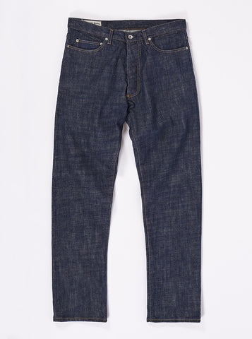 Universal Works Workshop Denim Regular Fit Jeans In Indigo Slub Selvedge Denim