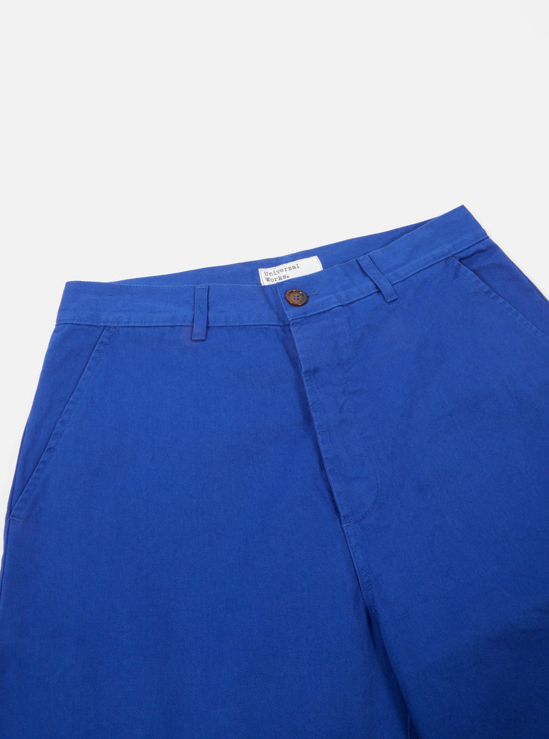 Universal Works Military Chino in Royal Blue Byron Twill