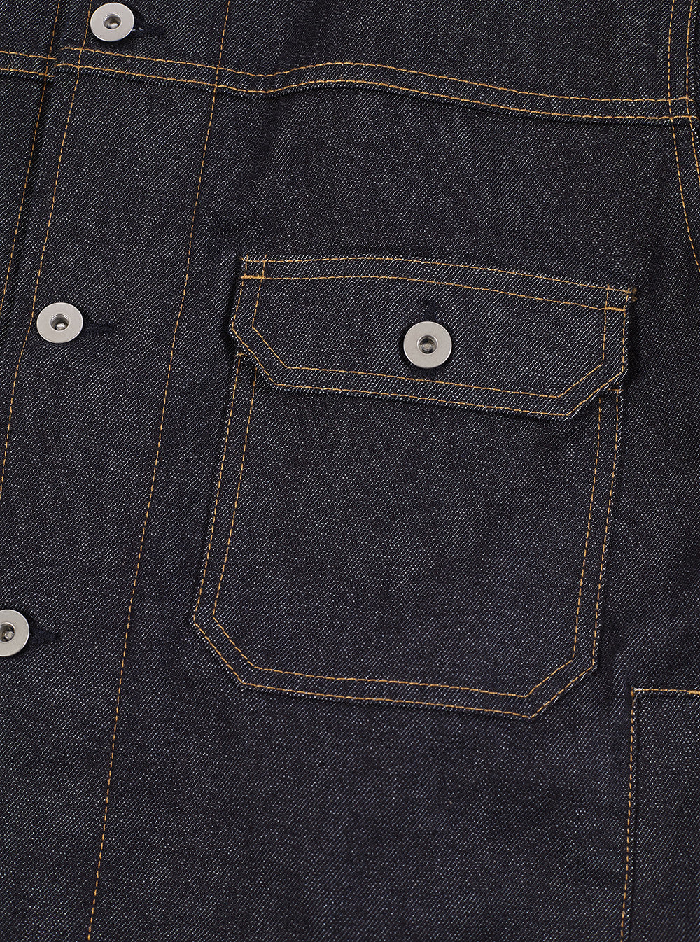 Workshop Denim Indigo Trucker Jacket In Selvedge Denim