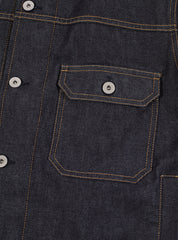 Universal Works Workshop Denim Indigo Trucker Jacket In Selvedge Denim