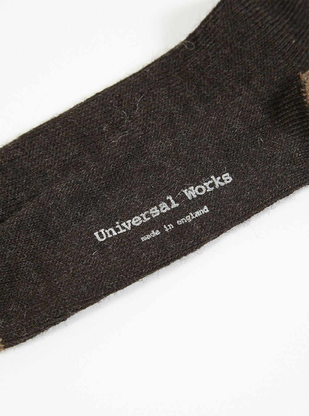 Universal Works Alpaca Sock in Charcoal Alpaca Wool