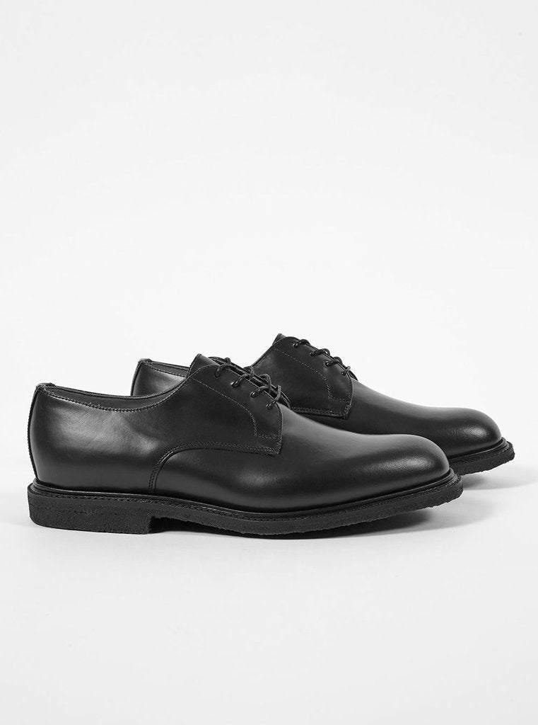Universal Works X Sanders Plain Gibson In Black Leather