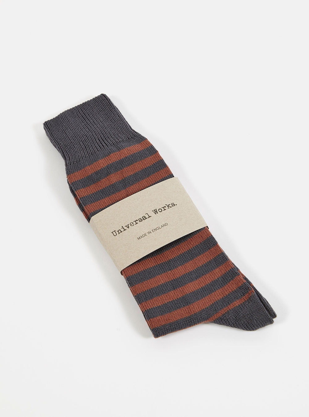 Stripe Sock in Charcoal Cotton