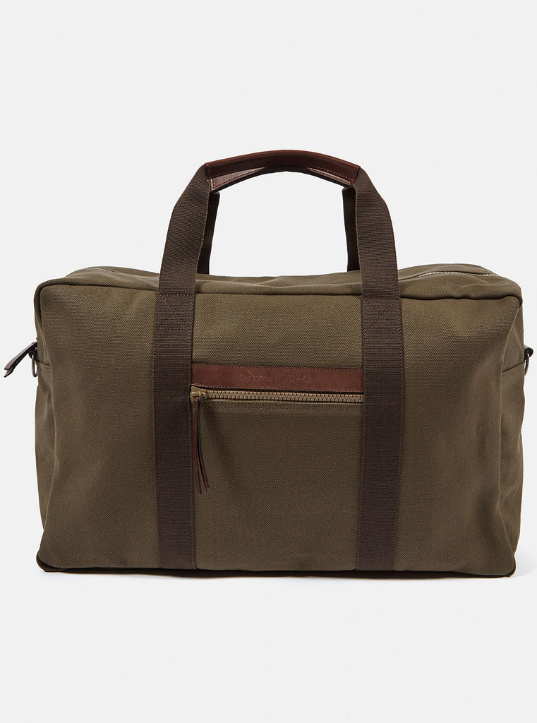 Universal Works Carry On Bag In Olive Canvas