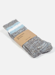 Everyday Stripe Sock in Cornish Blue Cotton