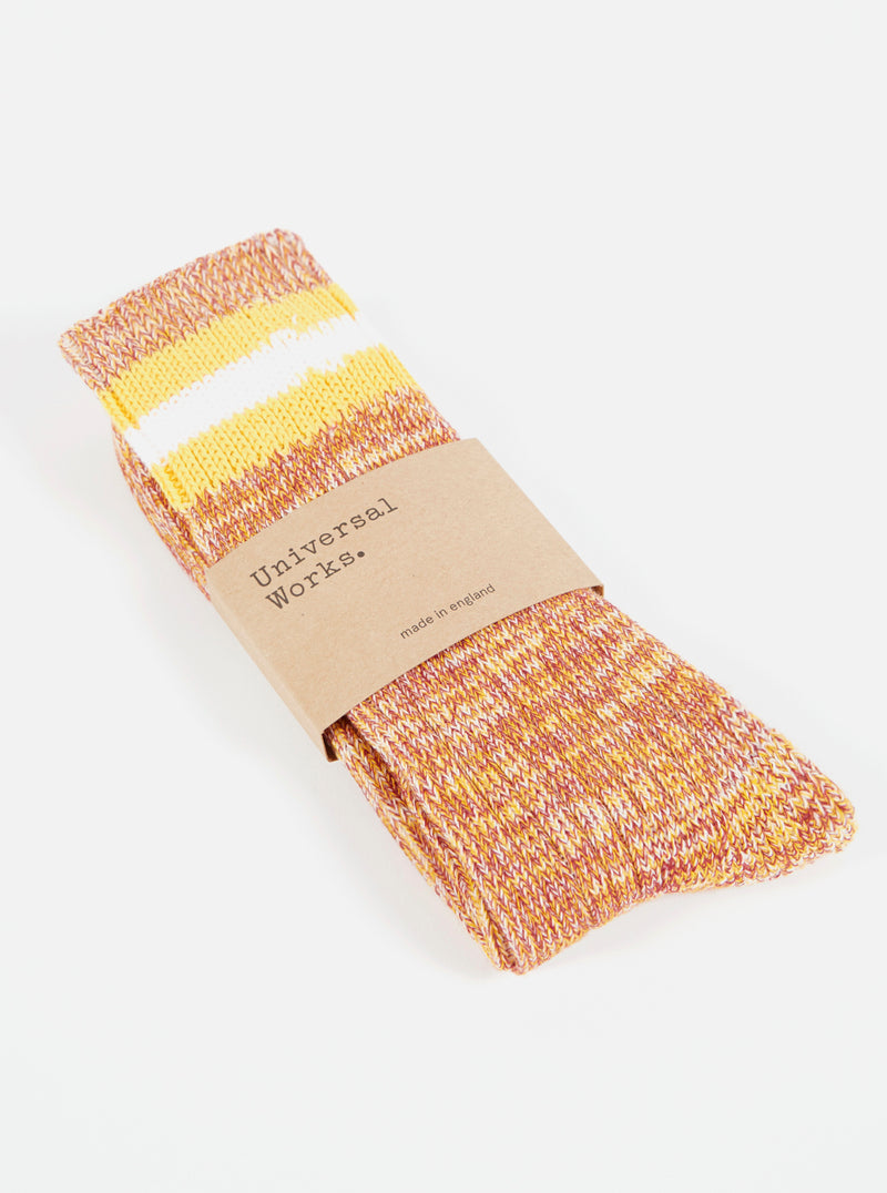 Everyday Stripe Sock in Yellow Cotton