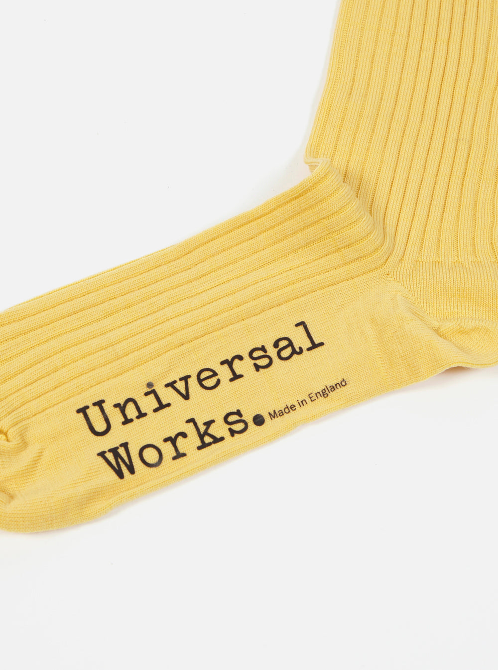 Universal Works Base Sock in Lemon Merino