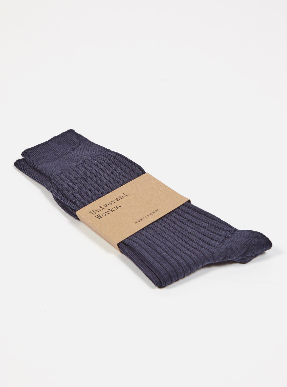 Base Sock in Navy Merino