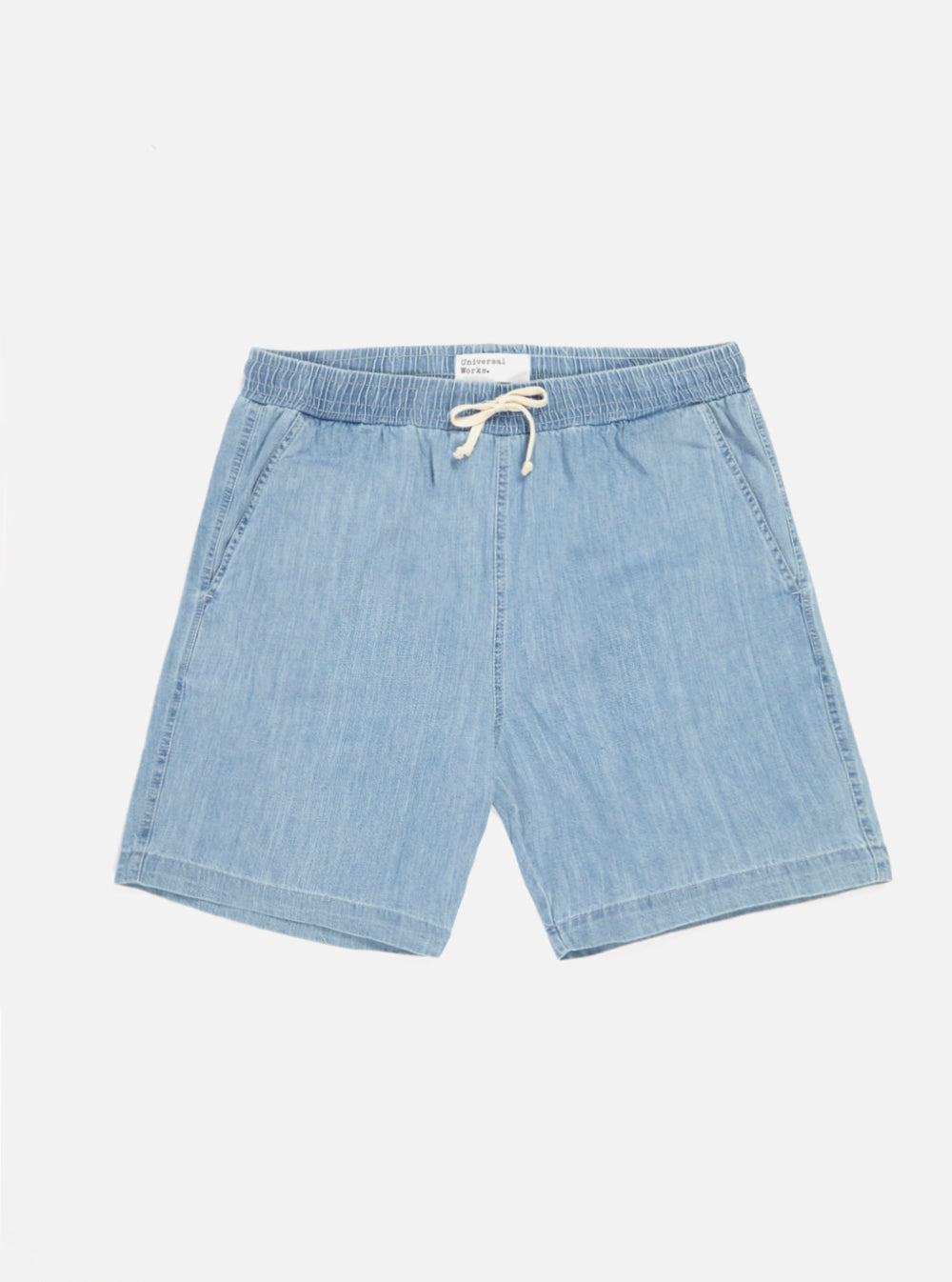 Universal Works Beach Short in Indigo Summer Denim