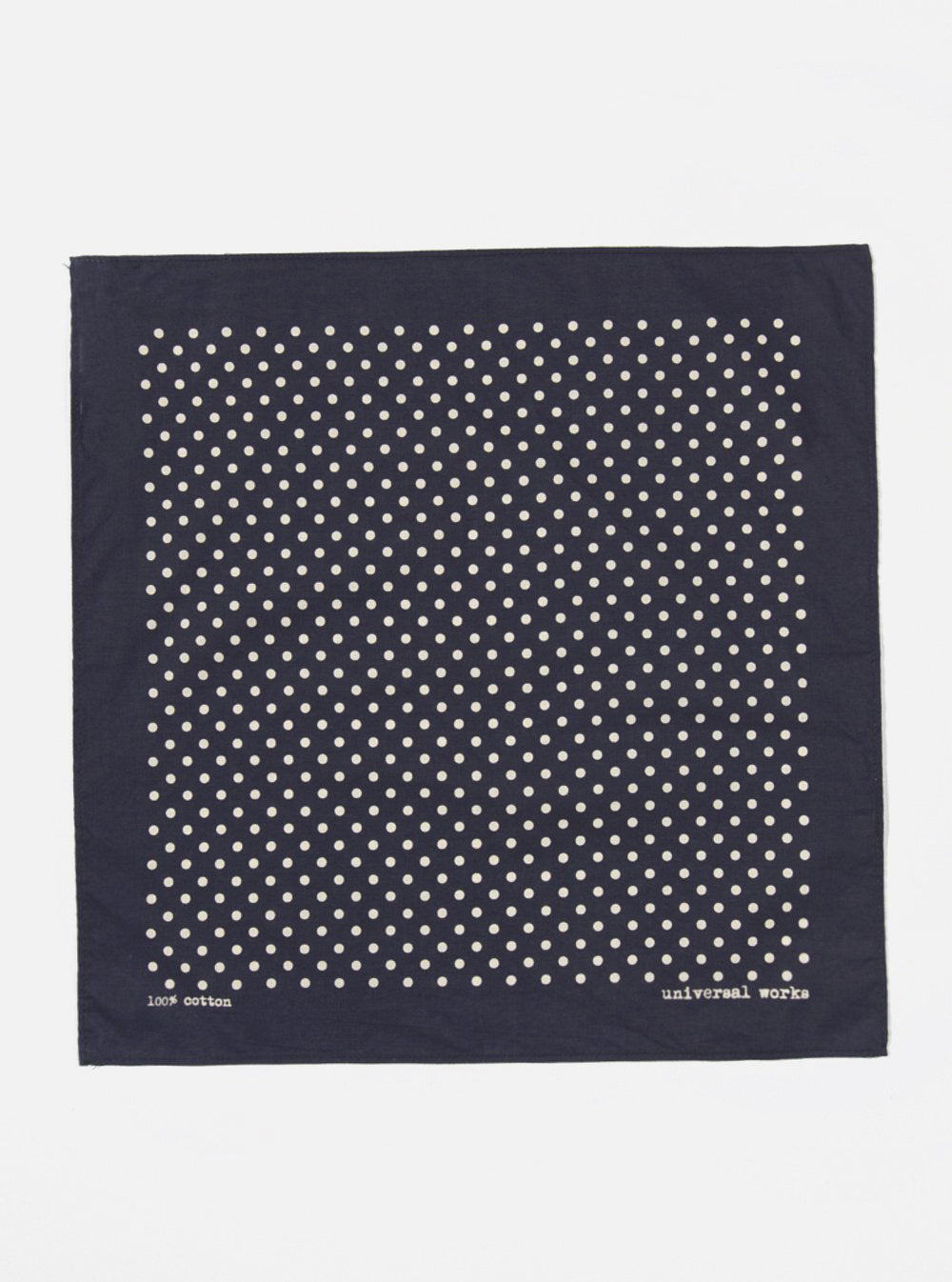 Universal Works Pocket Square in Navy Classic Dot