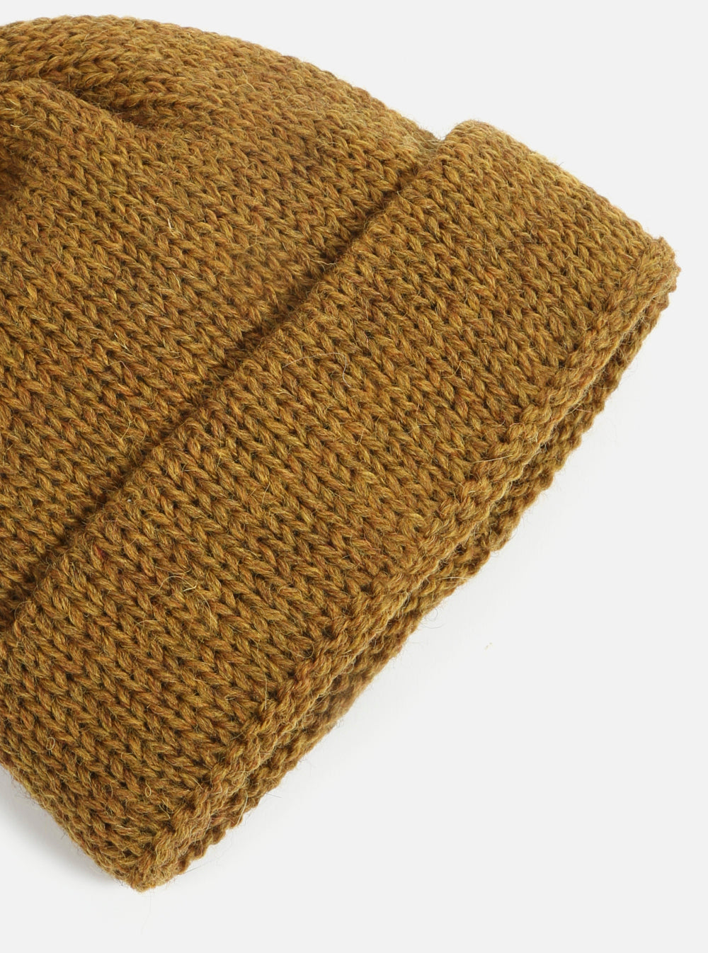 Short Watch Cap in Camel British Wool