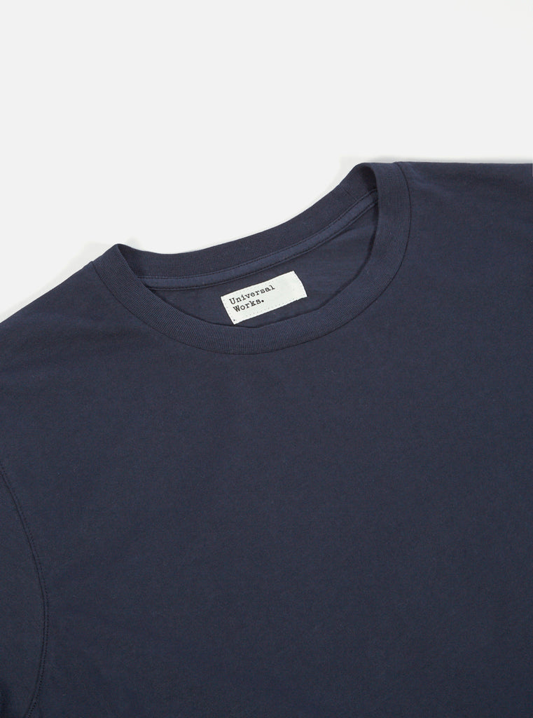 Universal Works Standard Tee in Navy Single Jersey