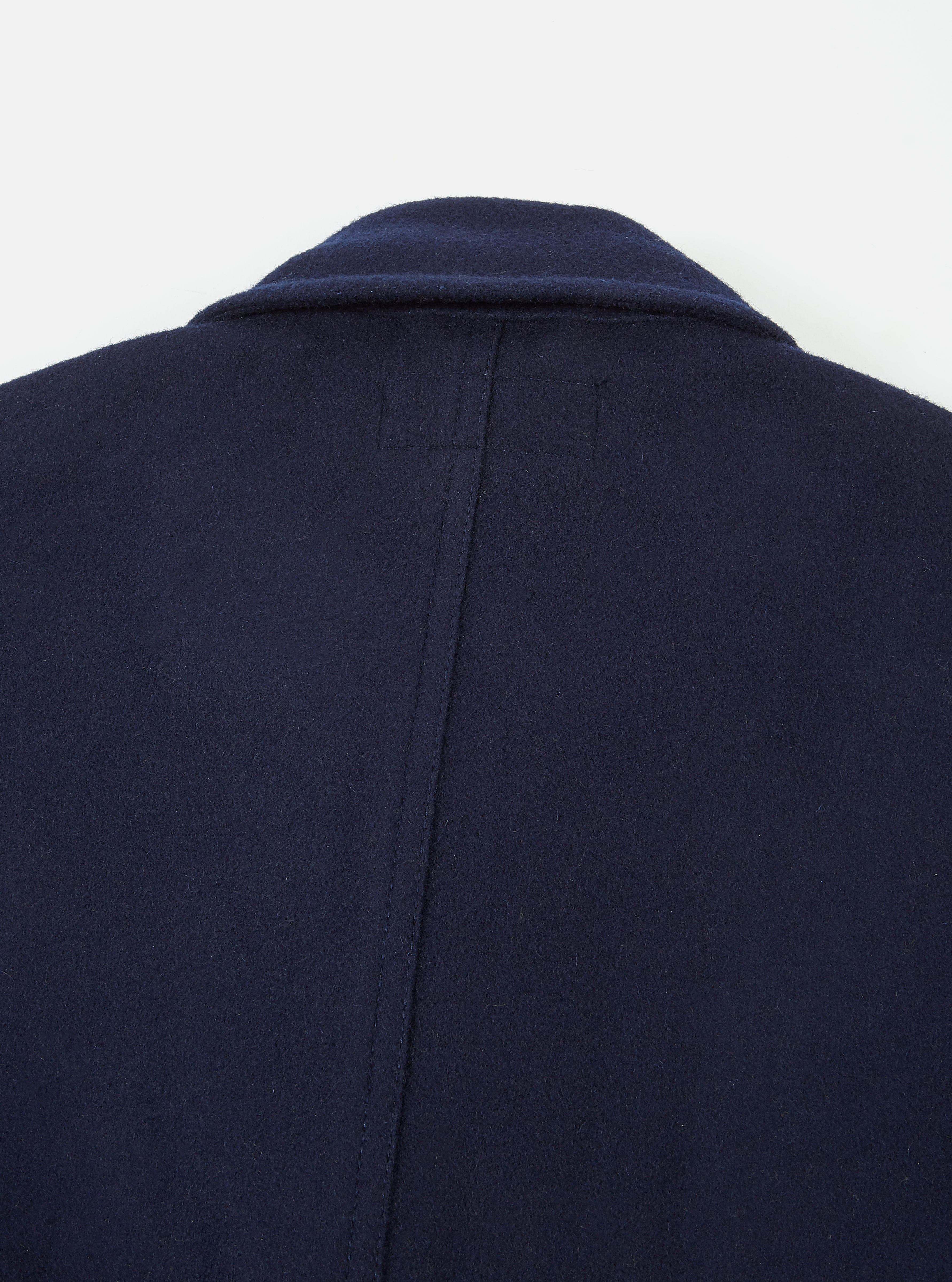 Universal Works Long Bakers Jacket in Navy Mowbray