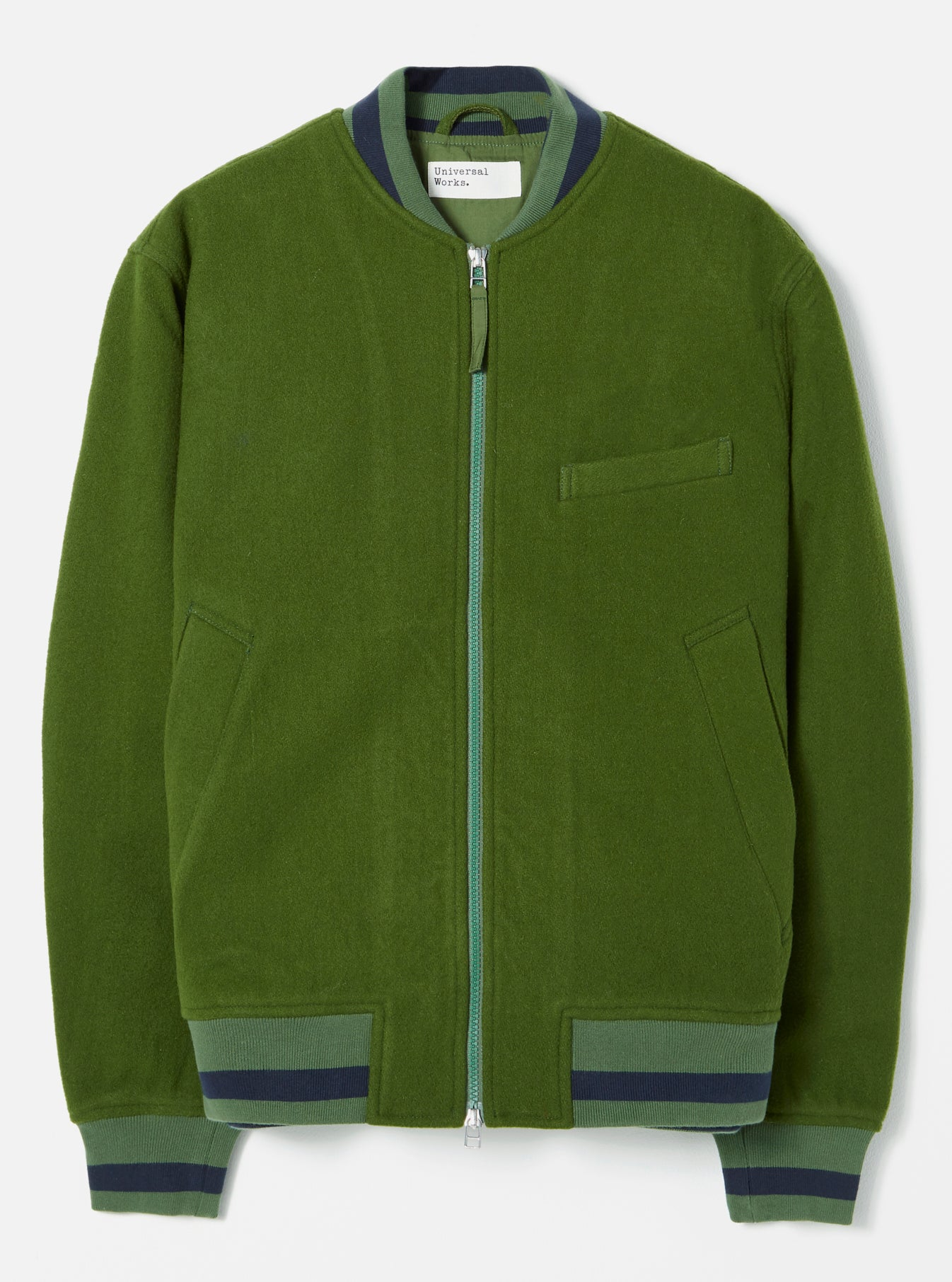 Universal Works Bomber Jacket in Green Mowbray