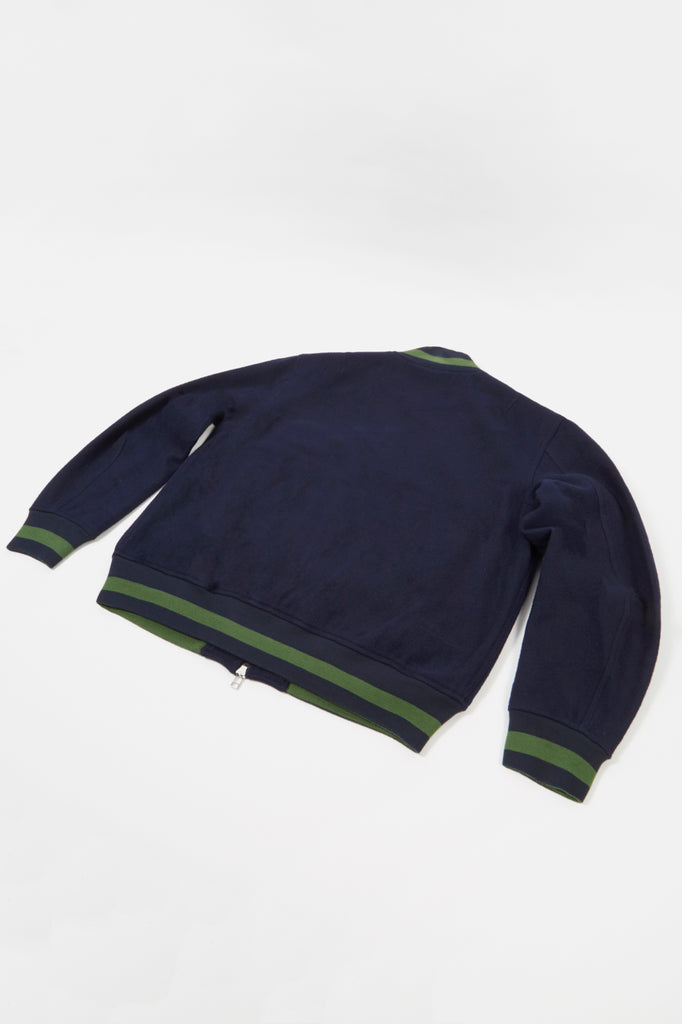 Universal Works Bomber Jacket in Navy Mowbray