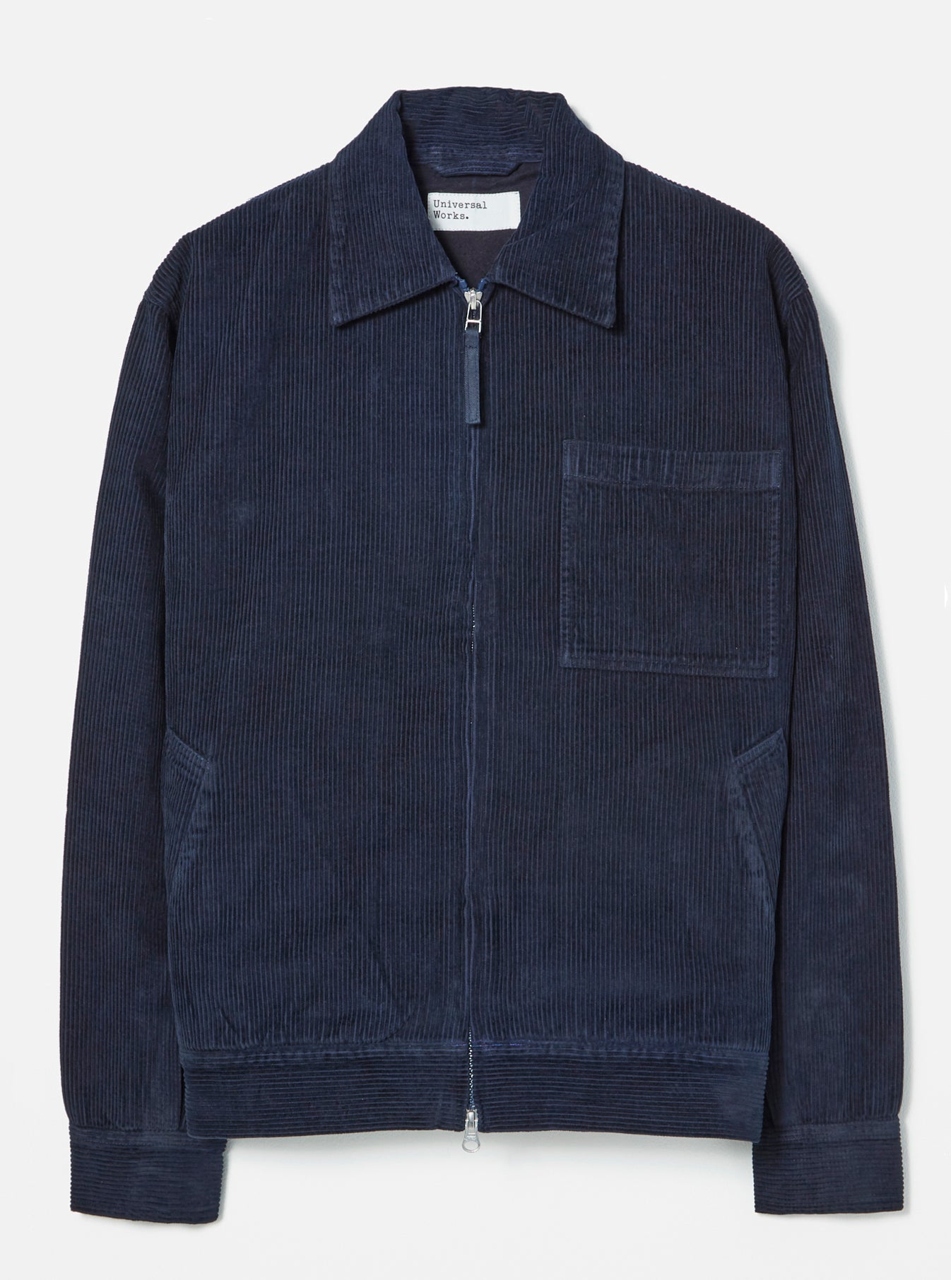 Universal Works Rose Bowl Jacket in Navy 8 Wale Cord