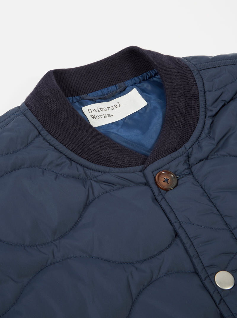 Universal Works Carlton Jacket in Blue Italian WR Nylon