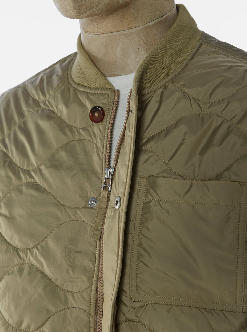 Universal Works Carlton Jacket in Sand Italian WR Nylon